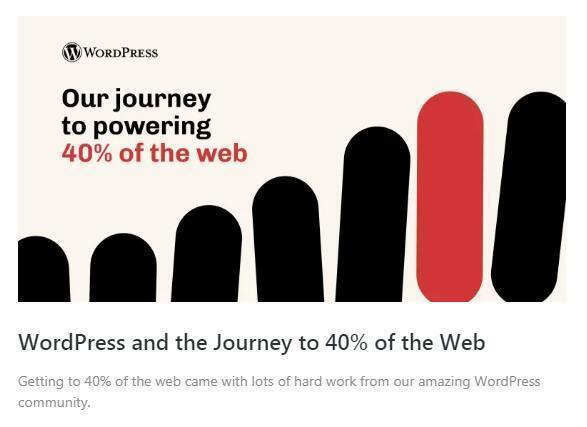 2021年WordPress市场份额突破40%